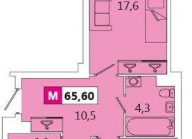 Двухкомнатная квартира на продажу, 66 м2, Санкт-Петербург, Адмиралтейский район, Парфёновская улица, 14к1