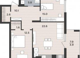 2-комнатная квартира на продажу, 74.1 м2, Калининград, Московский район