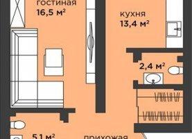 2-комнатная квартира на продажу, 65.7 м2, Калининград, Московский район